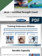 Training Methods for Endurance Sport