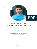Rapid Biohacks for Exceptional Health by Ben Greenfield Workbook Sp Ed