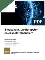 Blockchain. La Disrupción Del Sector Financiero