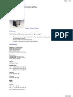 Vacuum Pump Catalog