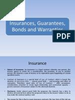 Insurance, Bonds, Gurantees
