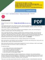 Cartoonist - Design, Arts and Crafts - Job Families & Articles - Jobs4U