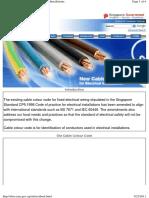 SG Cable Colour Code Changes