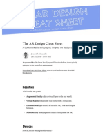 The AR Design Cheat Sheet – Prototypr