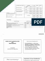 Loan Classfication, Rescheduling, WriteOff