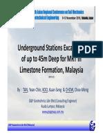 Underground MRT Station Excavation Upto 45m