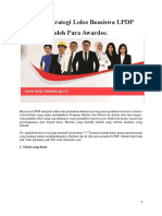 Tips & Strategi Lolos Beasiswa LPDP