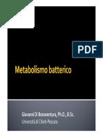 7a Lezione - Metabolismo Batterico