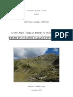 Rapport Atelier Alpes