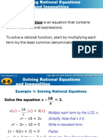 8-5 Rational Equations