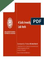 Soils Investigation Lab Tests