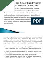 Pemeriksaan Pap Smear Thin Preparat (Sitologi Servix