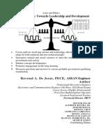 ICT Perspective Towards Leadership and Development by Ravenal de Jesus ISBN 978-971-0572-94-6