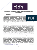 FIDH Submission on ICC Draft Legal Aid Policy
