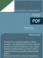 Autoritatea Executiva. Guvernul Romaniei