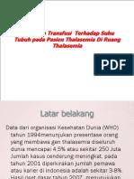 Pengaruh Transfusi Terhadap Suhu Tubuh Pada Pasien Thalasemia