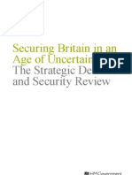 Strategic Defence and Security Review – Securing Britain in an Age of Uncertainty