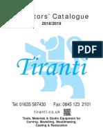 Tiranti Sculpt Catalogue 2018