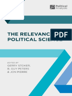 (Political Analysis) Gerry Stoker, Jon Pierre, B. Guy Peters (Eds.)-The Relevance of Political Science-Palgrave Macmillan (2015)