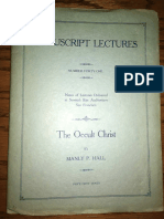 Hall, Manly P. - Manuscript Lectures No.41 - The Occult Christ.pdf