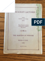 Hall, Manly P. - Manuscript Lectures No.44 - The Masters of Wisdom (1925).pdf