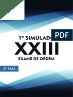 1o Simulado OAB de Bolso D. Administrativo - 2a Fase XXIII Exame de Ordem