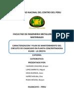 Plan de Mantenimiento de La Chancadora Primaria de Huari