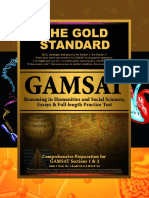 Gold Standard GAMSAT Section 1 2 Mock Exam