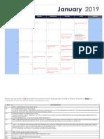 January Parent Calendar - 1-7-19