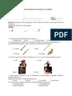 Mapeh 4 Third Periodical Test