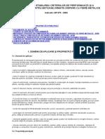 Ghid Pentru Stabilirea Criteriilor de Performanţă Şi a Compoziţiilor Pentru Betoane Armate Dispers Cu Fibre Metalice Gp075-2002