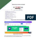 Páginas de internet