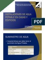Instalaciones de Agua Potable en Casas y Edificios