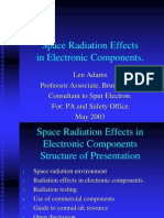 Space Radiation Effects in Electronic Components
