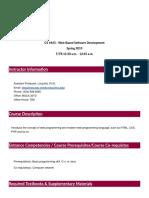 CS4443 - TSU Web-Based Software Development (Long Ma)