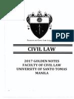 UST GOLDEN NOTES CIVIL LAW 2017
