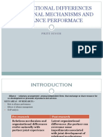 Organiztional Differences ,Relational Mechanisms and Alliance Performace