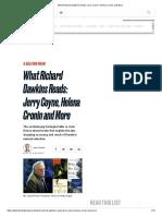 What Richard Dawkins Reads_ Jerry Coyne, Helena Cronin and More