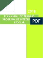 Plan Anual de Trabajo Pie 2018