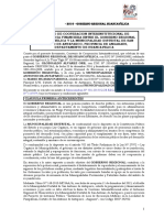Convenio de Transferencia Presupuestal Para La Ejeucion Del Proyecto Losa Recreacional de Pampahuasi - San Antonio de Antaparco - Angaraes