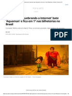 'WiFi Ralph - Quebrando a Internet' Bate 'Aquaman' e Fica Em 1º Nas Bilheterias No Brasil _ Cinema _ G1