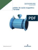 Sistema Medidor de Vazão Eletromagnético Rosemount 8750w Para Aplicações de Água Esgoto e Utilidades Pt 104880