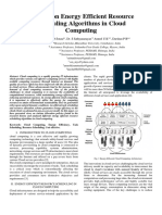 A Study on Energy Efficient Resource Scheduling Algorithms in Cloud Computing