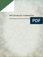 NPC Statblock Compendium _ GM Binder
