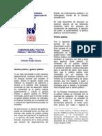 2001 Pulido Gobernabilidad, política pública y gestión pública.pdf