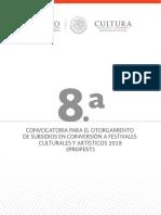 8 a Convocatoria PROFEST 2018