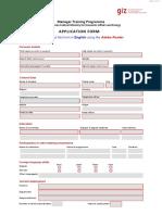 Application Form 2019