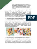 Qué Materiales y Recursos Educativos Utilizarías Para La Atención Educativa de Un Estudiante Con Discapacidad Severa o Multidiscapacidad