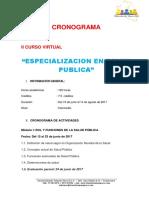 cronograma especialización en salud pública