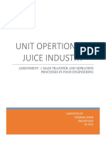 UNIT OPERTATIONS IN JUICE INDUSTRY